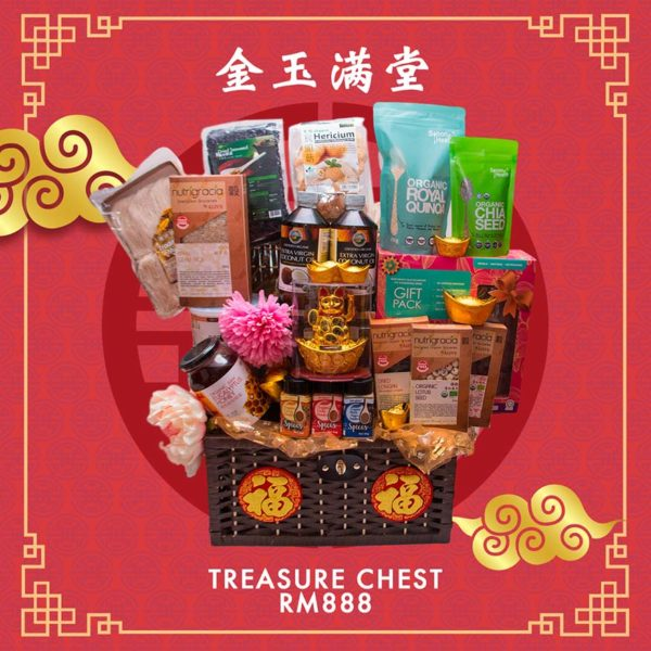 koyara healthy chinese new year hamper treasure chest