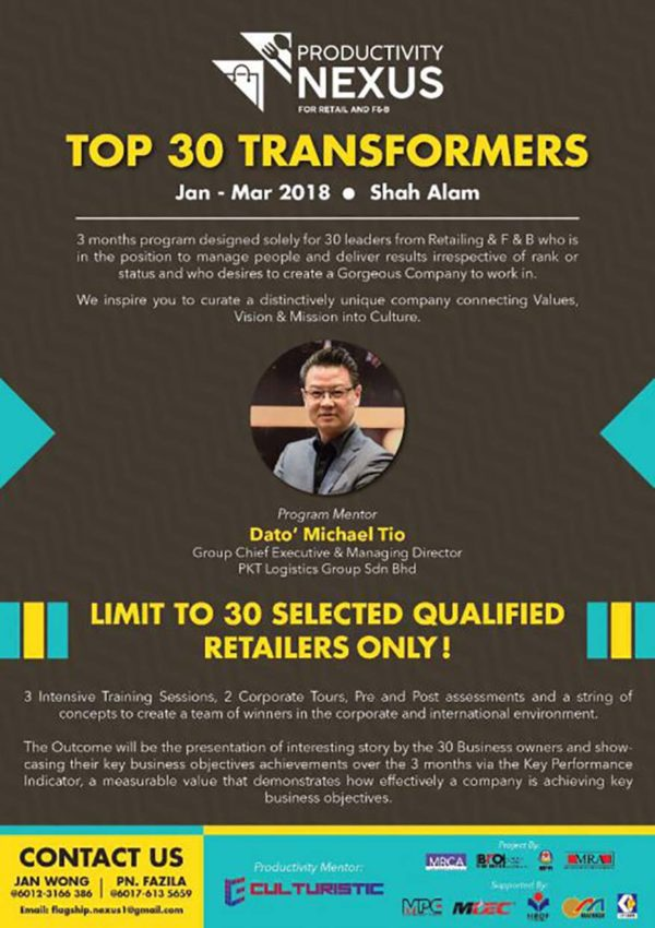 productivity nexus for retail and fnb flagship program top transformers