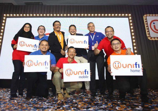 unifi brand repositioning event senior management group photo
