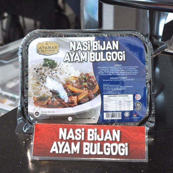 ayamas kitchen ready-to-eat nasi bijian ayam bulgogi