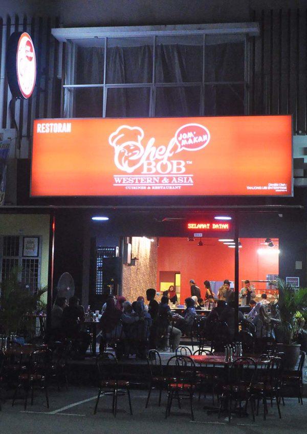 chef bob western asian restaurant ttdi grove kajang red signage