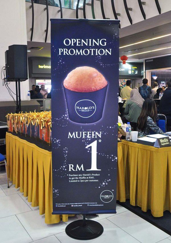 harold's bread bakery mydin usj subang jaya muffin promotion