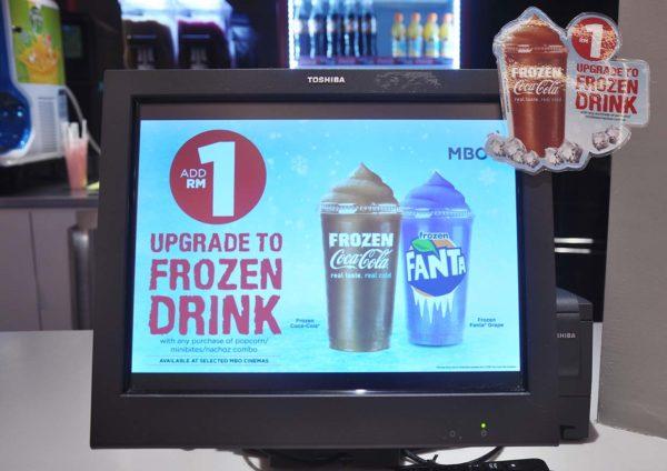 mbo cinemas coca-cola beverages frozen drink