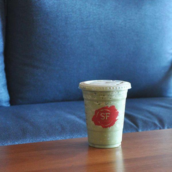 san francisco coffee matcharena green tea frappe