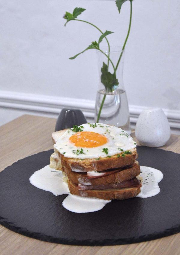 champignon oasis damansara european restaurant baked ham and cheese sandwich