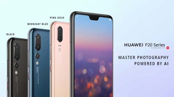 huawei p20 series smartphone colour variants