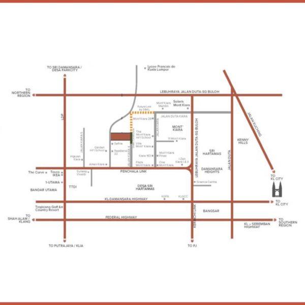 inspirasi mont kiara mkh berhad condominium location map