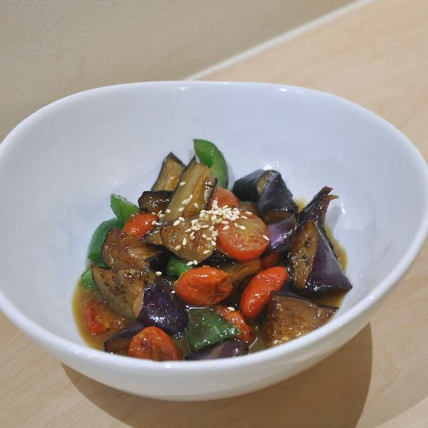 kokoro kitchen restaurant japanese cuisine nasu itame brinjal