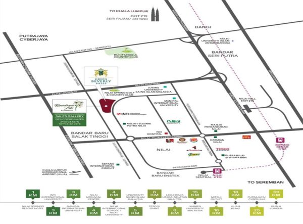 residensi lili green beverly hills nilai the rustic experience location map