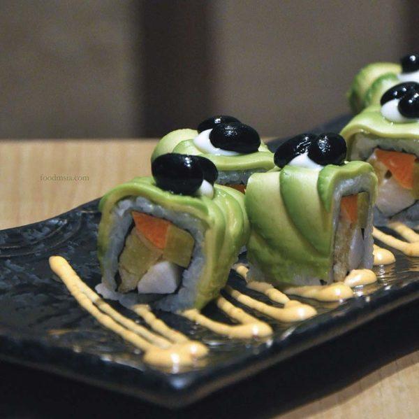 sushi tei japanese restaurant healthy menu avocado yasai roll