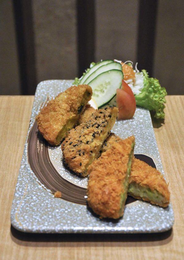 sushi tei japanese restaurant healthy menu croquettes