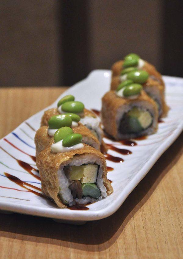 sushi tei japanese restaurant healthy menu inari yasai roll