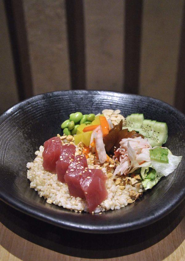 sushi tei japanese restaurant healthy menu maguro poke bowl