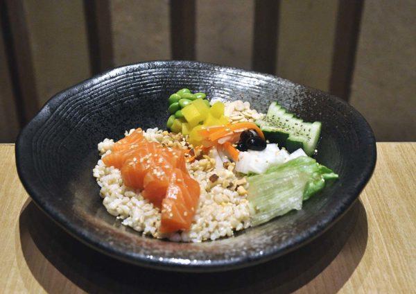 sushi tei japanese restaurant healthy menu salmon poke bowl