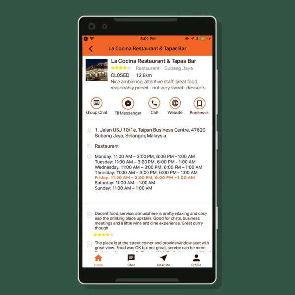 taptab social messaging app business
