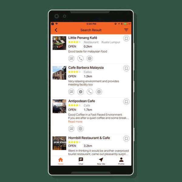 taptab social messaging app search engine result