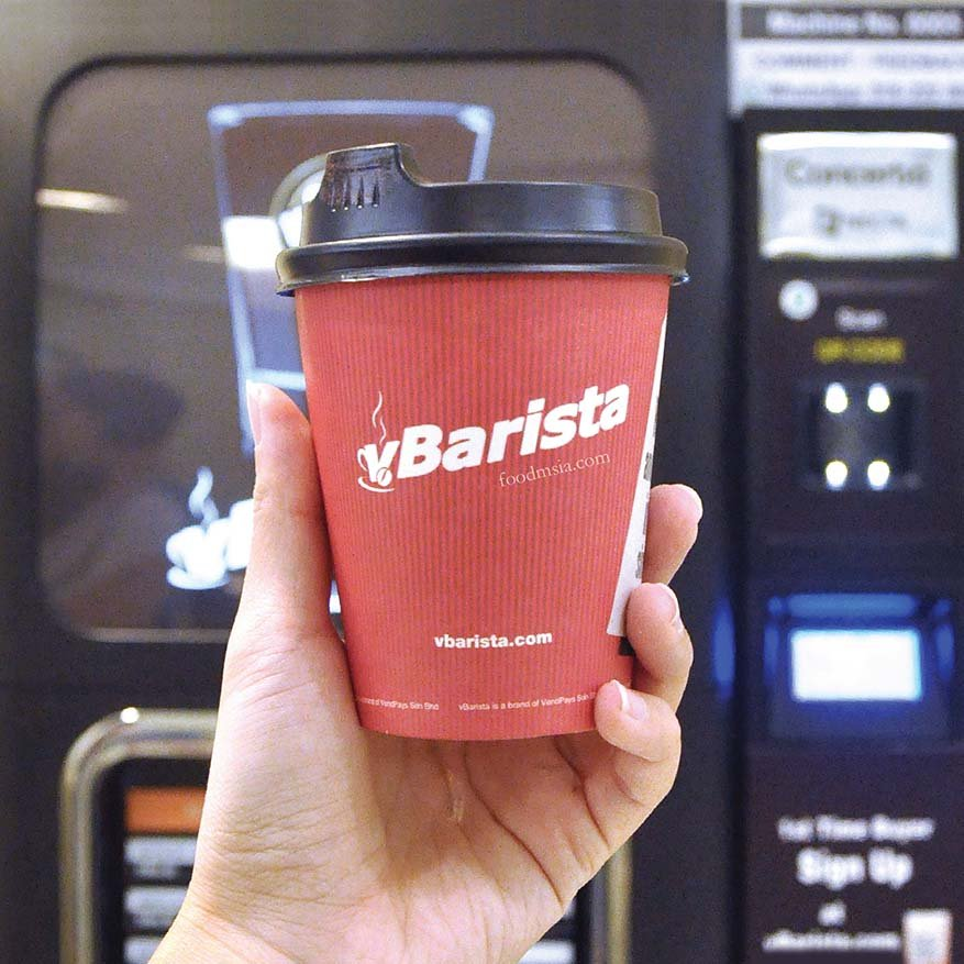 Purchase Fresh Coffee Without Cash @ vBarista Vending Machine