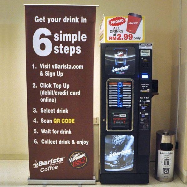 vbarista cashless fresh coffee vending machine sogo kl