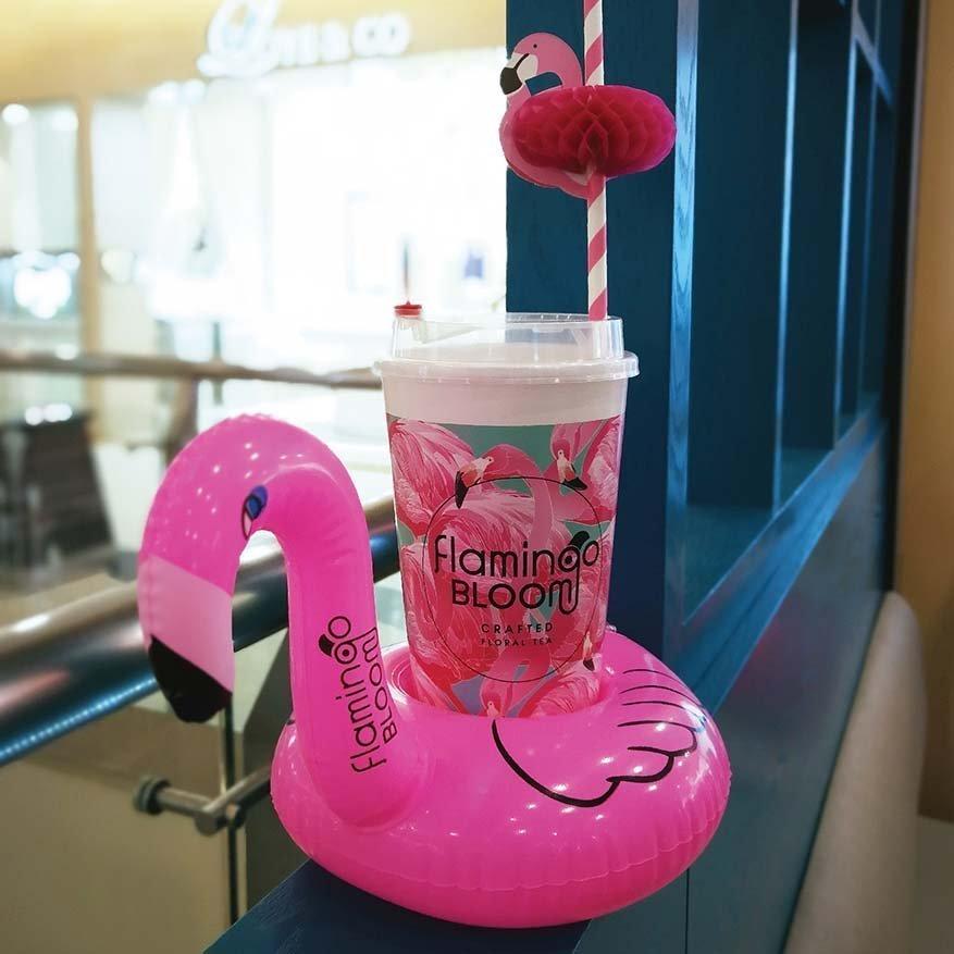 iconic flamingo bloom tea salon sunway pyramid bandar sunway