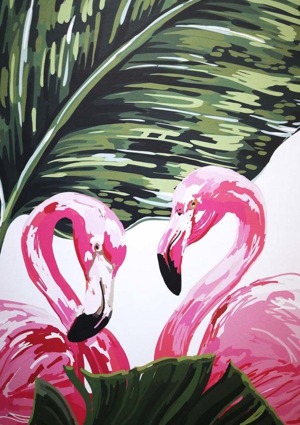 flamingo bloom tea salon sunway pyramid wallpaper
