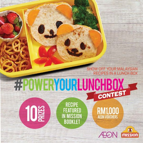 power your lunch box contest mission foods aeon