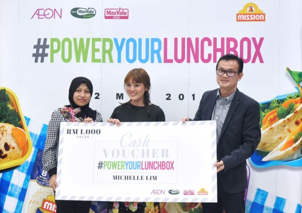 power your lunch box contest mission foods aeon winner