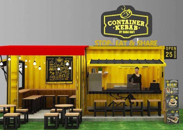 container kebab baba rafi malaysia design