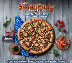 Domino's Hottest Korean Sensation – Ssamjeang Prawn Pizza