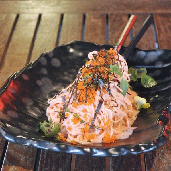 kouzu modern japanese restaurant bangsar angel hair pasta