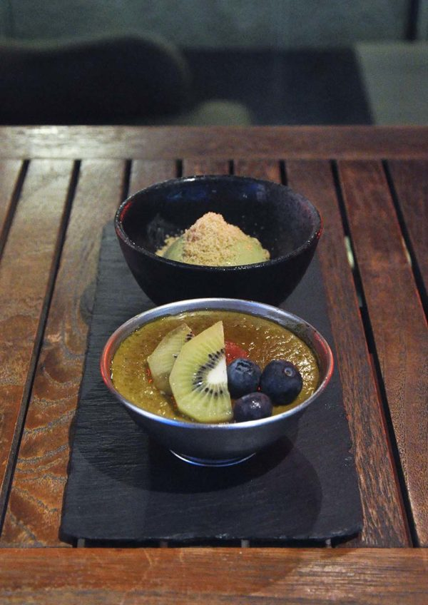 kouzu modern japanese restaurant bangsar green tea brulee