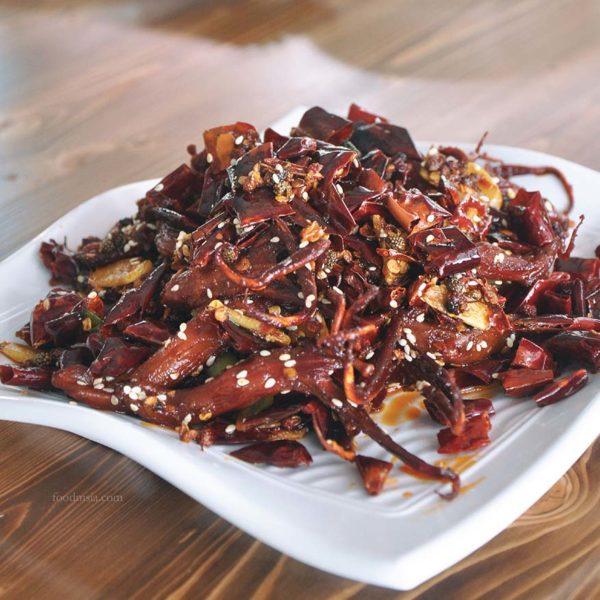 lai lai wang wang chinese restaurant kuchai maju kl spicy duck tongues