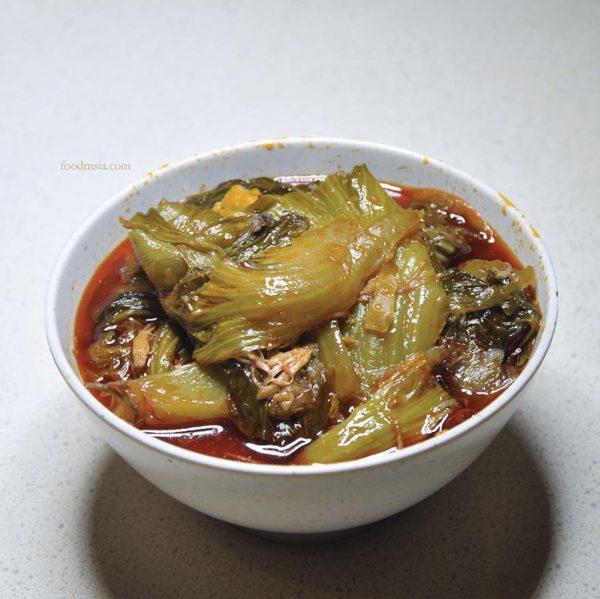 nam heong chicken rice chinatown kl desa sri hartamas spicy mixed vegetables