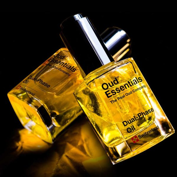 oud essentials swiss brand anti ageing skincare line dual phase oil