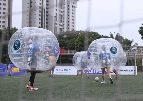 tealive world tea cup bubble soccer battle