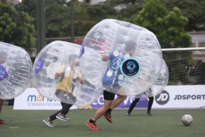Fun Exciting World Tea Cup Bubble Soccer Battle