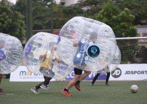 Fun Exciting World Tea Cup Bubble Soccer Battle