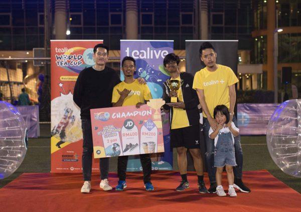 tealive world tea cup bubble soccer battle grand prize