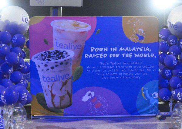 tealive world tea cup bubble soccer battle stage