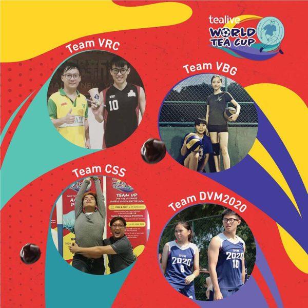 tealive world tea cup bubble soccer battle teams