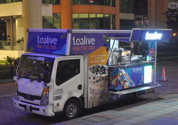 tealive world tea cup bubble soccer battle truck