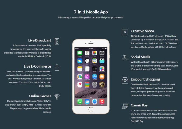 7-in-1 cannis mobile app features