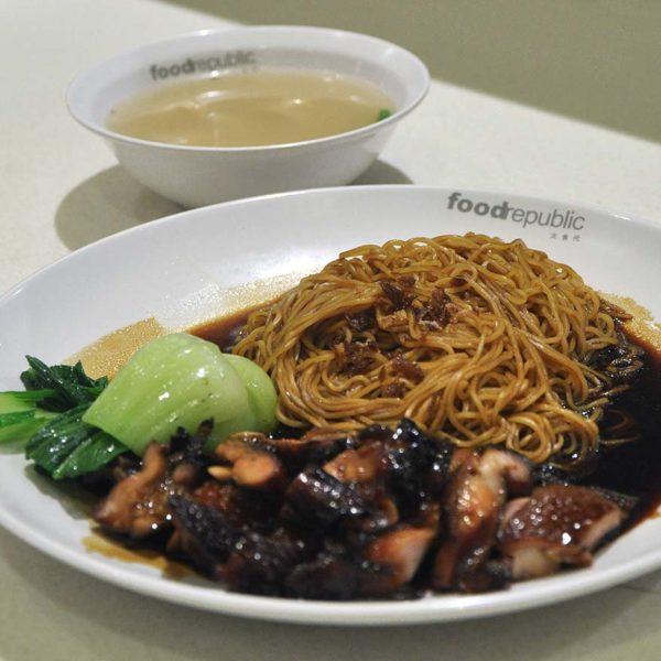 food republic pavilion kl hong kong roast bbq chicken noodle wanton