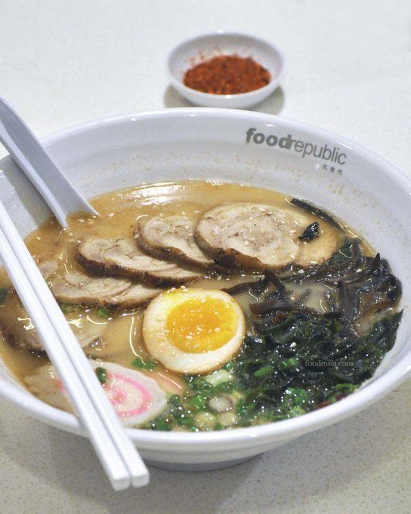 food republic pavilion kl ichiban ramen chicken chasu ramen