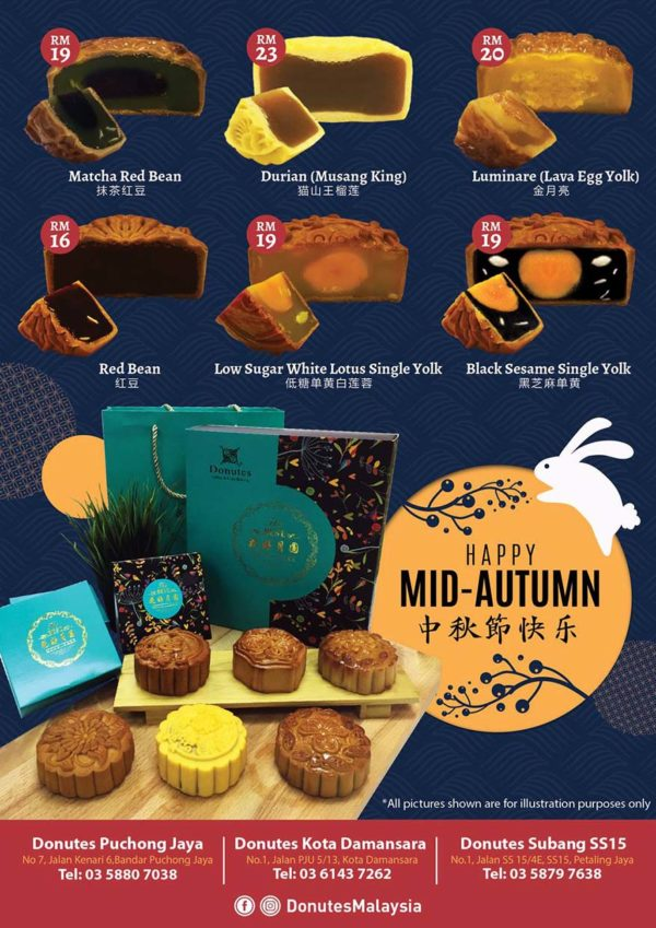 mid autumn festival taiwanese mooncake donutes malaysia traditional baked