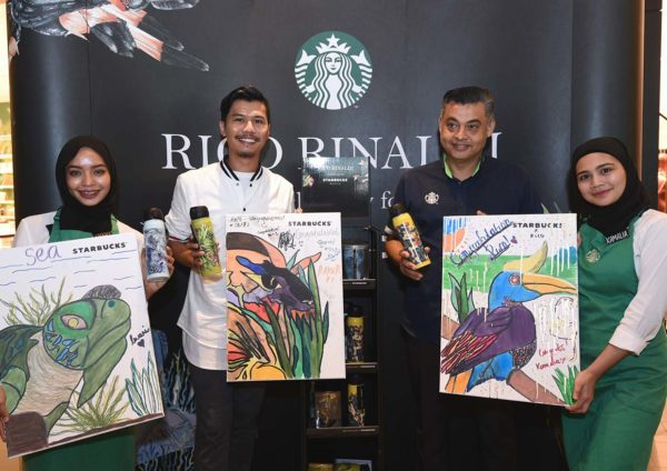 starbucks malaysia rico rinaldi designer collection harimau penyu kenyalang