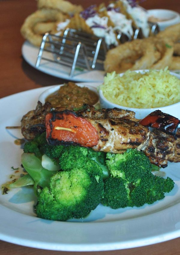 tony romas spin and savour chicken skewer