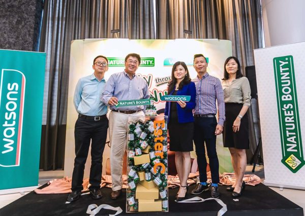 natures bounty health supplement watsons malaysia launching event