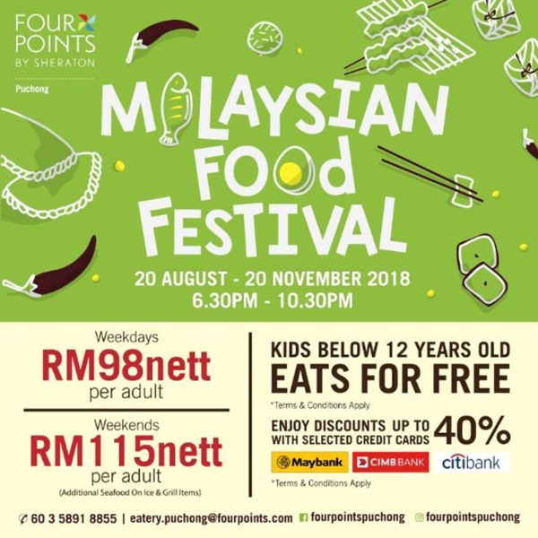 four points sheraton puchong the eatery malaysian food festival promo