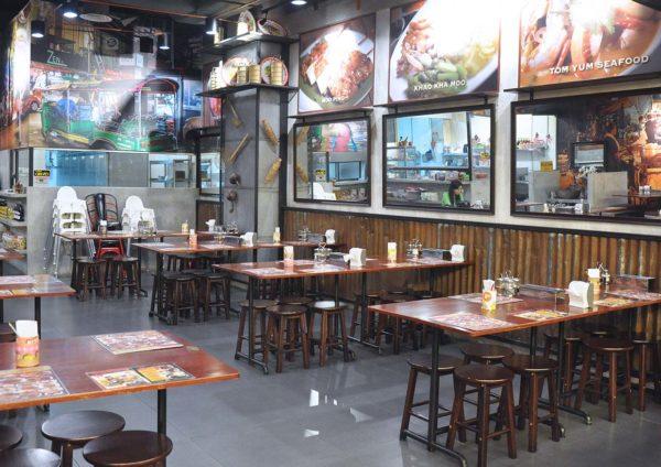 go thai restaurant atria shopping gallery interior