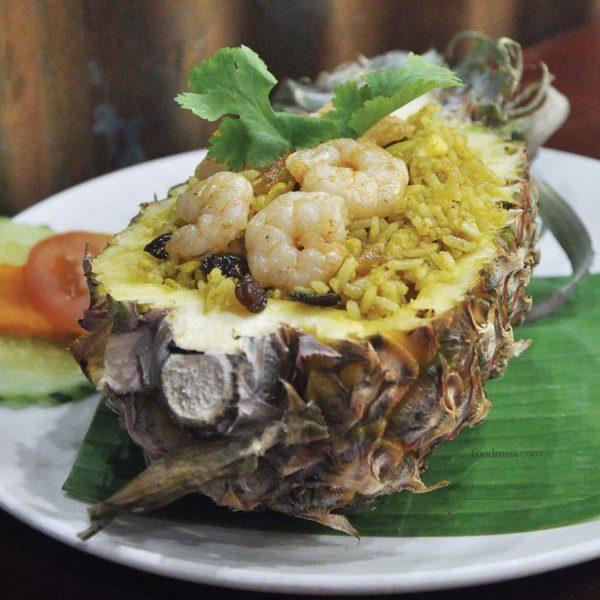 go thai restaurant atria shopping gallery pineapple fried rice